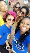 Taking a break from tabling to snap a photo of UNCG Pretty Poodles